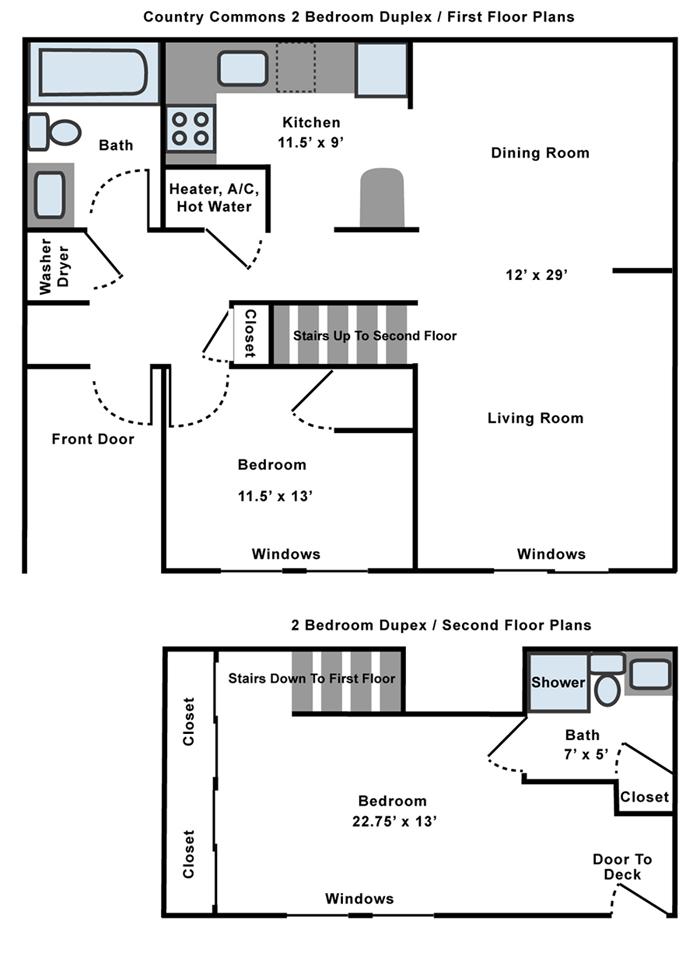 Apartments For Rent One Bedroom Two Duplex